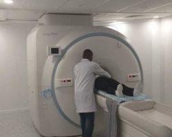 Le Président Alpha Condé inaugure un scanner de dernière génération à la CNSS
