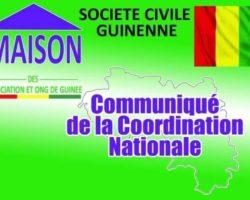 GUINÉE:COMMUNIQUE  DE  LA MAISON DES ASSOCIATIONS