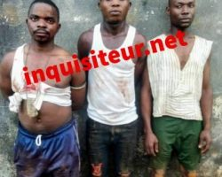 l'arrestation des soldats à l'origine des tirs sporadiques entendus au camp Alpha Yaya Diallo, ce matin. Source inquisiteur.net